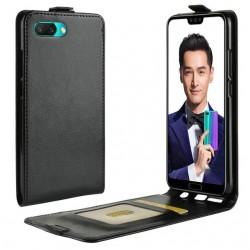 Flipové puzdro Vertical Flexi Slim pre Huawei Honor 10 Lite čierne.