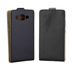 Flipové puzdro Vertical Flexi Slim pre Huawei Y3 2018 čierne.