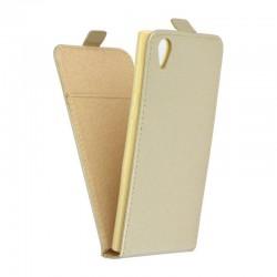 Flipové puzdro Vertical Flexi Slim pre Sony Xperia L1 zlaté.