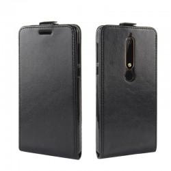 Flipové puzdro Vertical Flexi Slim pre Nokia 6 2018/6.1 čierne .