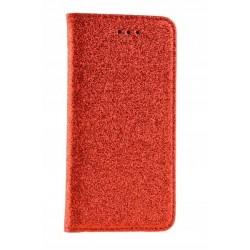 Puzdro Glitter pre Lenovo Moto G6 červené.