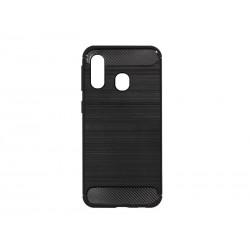 Kryt Carbon pre Samsung A405 Galaxy A40 čierny.