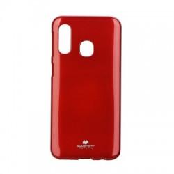 Kryt Mercury Jelly pre Samsung A405 Galaxy A40 červený.