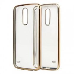 Kryt priehľadný pre LG K10 2018/ K11 zlatý rám.