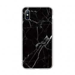 Kryt pre Samsung A705 Galaxy A70 mramorový vzor- čierny.