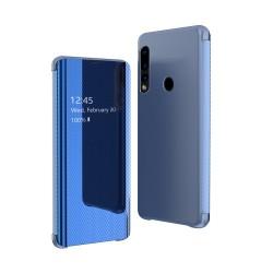Puzdro Clear View pre Huawei P30 Lite modré.