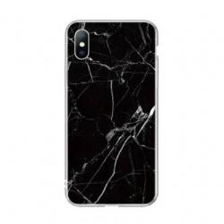 Kryt pre Huawei Mate P30 Lite mramorový vzor- čierny.