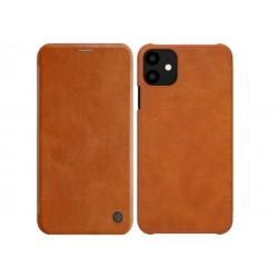 """Puzdro Nillkin Qin pre iPhone 11 Pro Max (6,5"""") hnedé."""