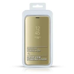 Puzdro Clear View pre iPhone 11 zlaté.