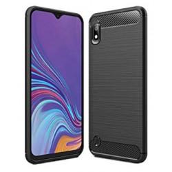 Kryt Carbon pre Samsung A105 Galaxy A10 čierny.