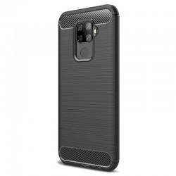Kryt Carbon pre Huawei Mate 30 Lite čierny.
