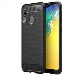 Kryt Carbon pre Samsung Galaxy A20s čierny.