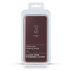 Puzdro Clear View pre Huawei Nova 5T fialové.
