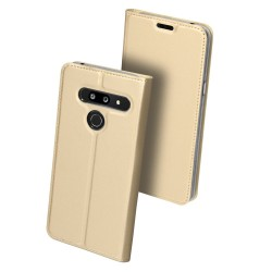 Puzdro Dux Ducis Skin pre LG G8 ThinQ zlaté.