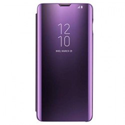 Puzdro Clear View pre Samsung Galaxy S20 Plus fialové.