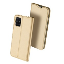Puzdro Dux Ducis Skin pre Samsung Galaxy A71 zlaté.