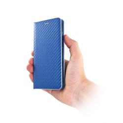 Puzdro Carbon s rámom pre Samsung Galaxy A20/A30 modré.