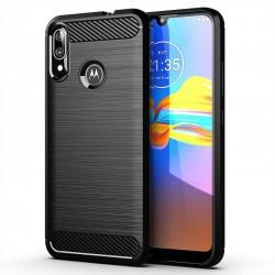 Kryt Carbon pre Motorola Moto E6 Plus čierny.