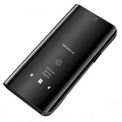 Puzdro Clear View pre Motorola Moto G8 Plus čierne.