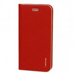 Puzdro Vennus Carbons rámom pre Huawei Y6P červené.