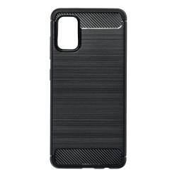 Kryt Carbon pre Samsung A415 Galaxy A41 čierny.