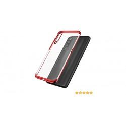 Kryt Elektro pre Samsung A202 Galaxy A10 červený-priehľadný.