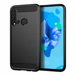 Kryt Carbon pre Huawei P20 Lite 2019 čierny.