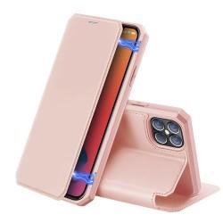 "Puzdro Dux Ducis Skin X pre iPhone 12 (5.4"") ružové."