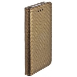 Puzdro Smart Magnet pre Huawei Mate 9 tmavo-zlaté.