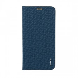 Puzdro Vennus Carbon s rámom pre iPhone 12 Pro Max modré.