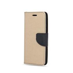 Puzdro Fancy pre Samsung A426 Galaxy A42 zlato-čierne.
