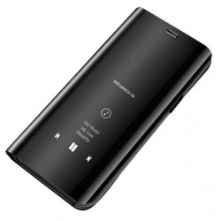 Puzdro Clear View pre Samsung Galaxy S21 čierne.