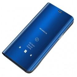 Puzdro Clear View pre Samsung Galaxy A01 modré.