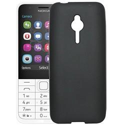 Silikónový kryt Candy Case slim 0,3mm pre Nokia 230 (2015) čierny bez trblietok