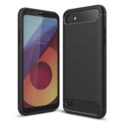 Kryt Carbon TPU pre LG Q6 čierny.