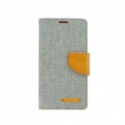 Knižkové puzdro Canvas pre Huawei P20 sivé.