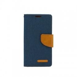 Knižkové puzdro Canvas pre Huawei Y7 (2018) modré.