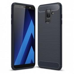 Kryt Carbon pre Samsung A605 Galaxy A6 Plus (2018) čierny.