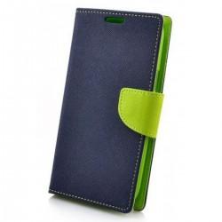Knižkové puzdro Fancy pre Nokia X5 modro-limetkové.