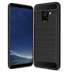 Kryt Carbon pre Samsung A530 Galaxy A5 (2018)/ A8 (2018) čierny.